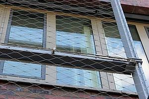 horizontal mesh direction façade X-TEND wire rope net