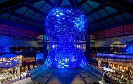 Lichtskulpturen LED Lichtdesign X-LED Mesh Carl Stahl Architektur