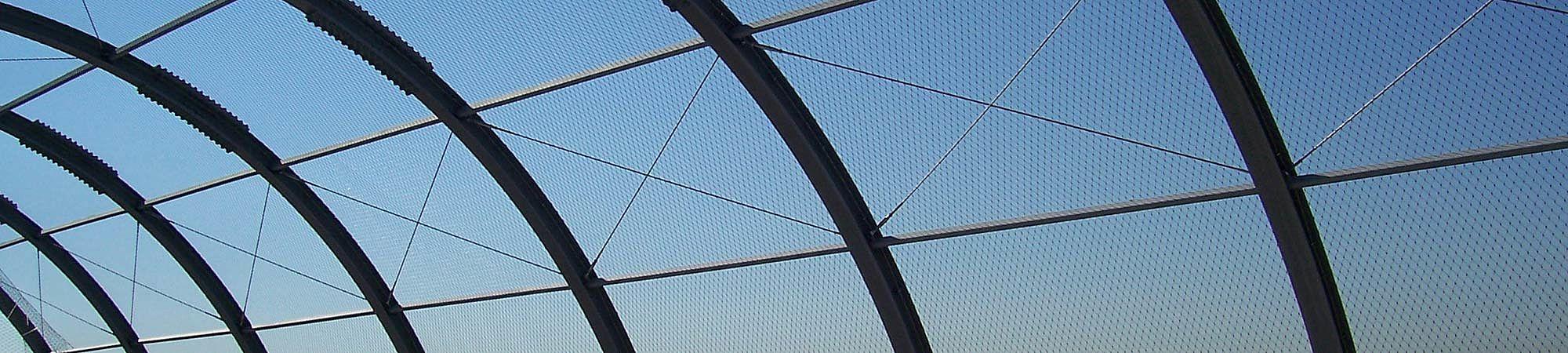 Dachsicherung Wurfschutz Ballfangnetz X-TEND Edelstahl-Seilnetz