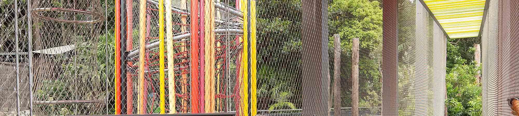 Lemuren Abenteuerspielplatz X-TEND Edelstahl-Seilnetz