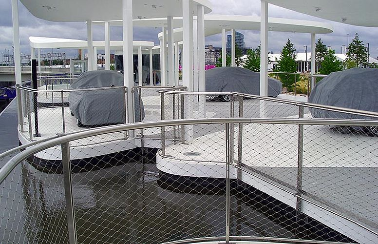 balustrades X-TEND stainless steel cable mesh