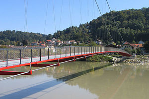 Brücke Geländer X-TEND CXS Edelstahl-Seilnetz
