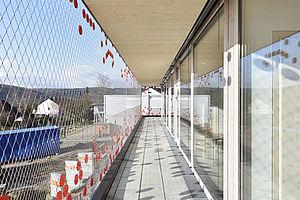 X-TEND Sicherheit Fassade Edelstahl-Seilnetz