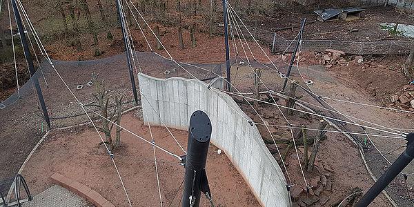 Zoo-Anlagen X-TEND Edelstahlseilnetz Voliere Pforzheim