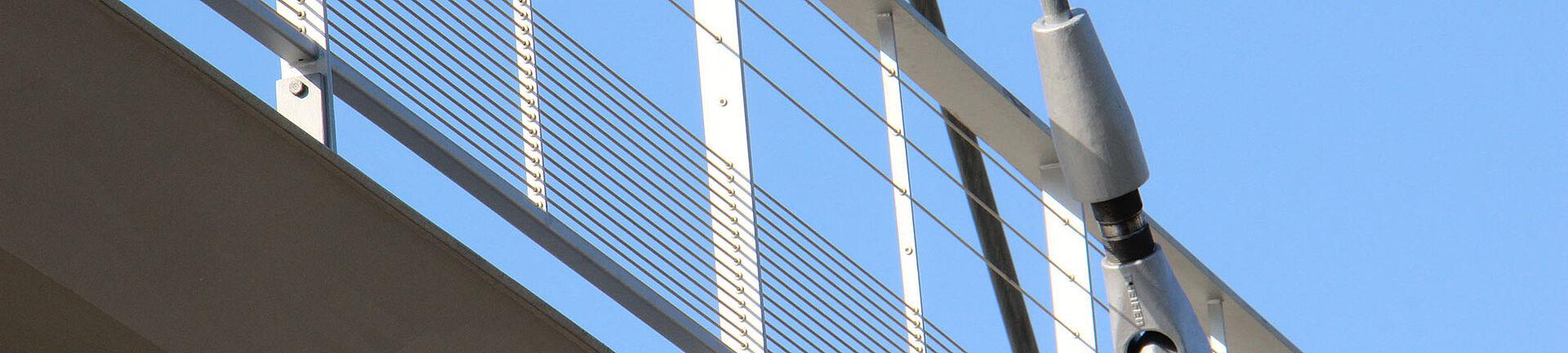 Brückengeländer I-SYS Edelstahl-Seilsystem