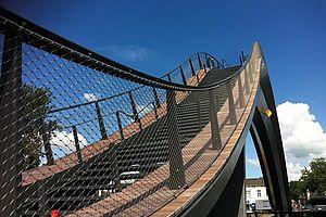 X-TEND stainless steel cable mesh melkweg bridge