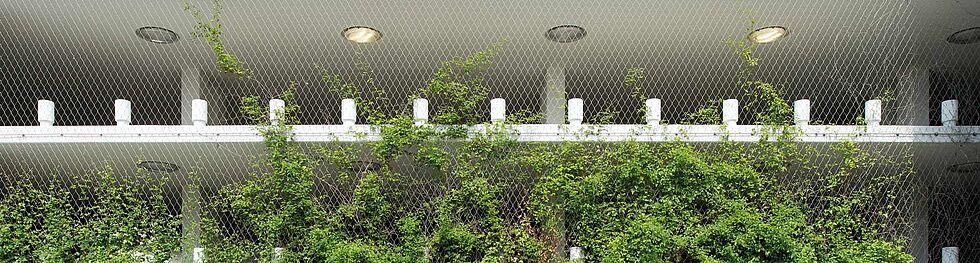 Verdissement du parking Schiffsbauergasse Filet à câble en acier inoxydable X-TEND