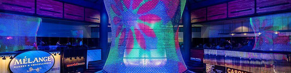 Light sculpture LED light design X-LED Carl Stahl Architecture