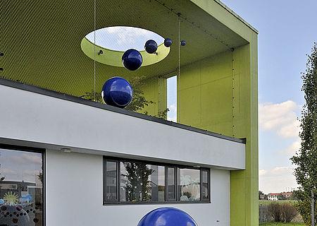 Add-Ons Streifen X-TEND Edelstahl-Seilnetz Fassadengestaltung