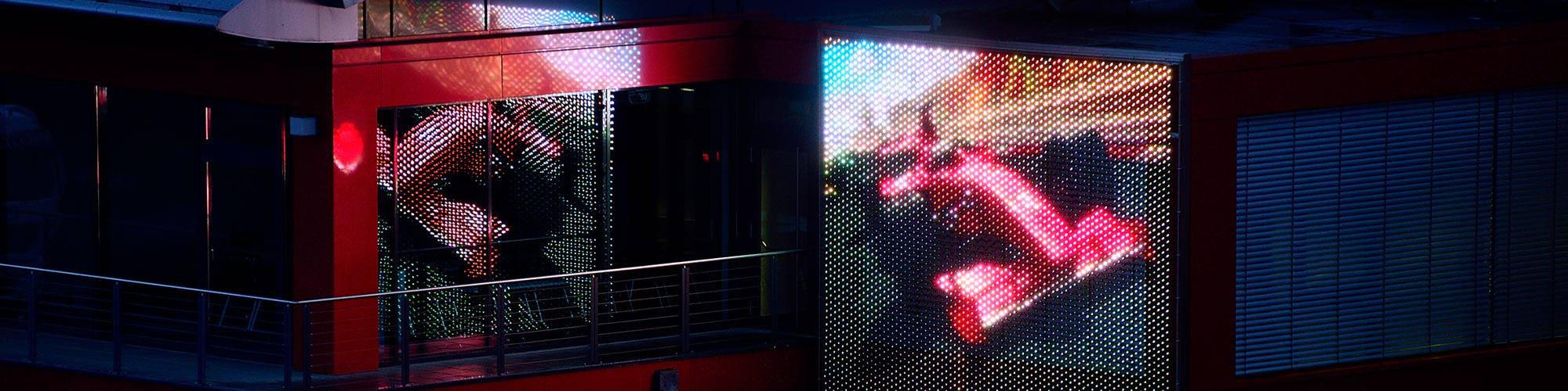 LED Module Medienfassade X-LED Carl Stahl Architektur