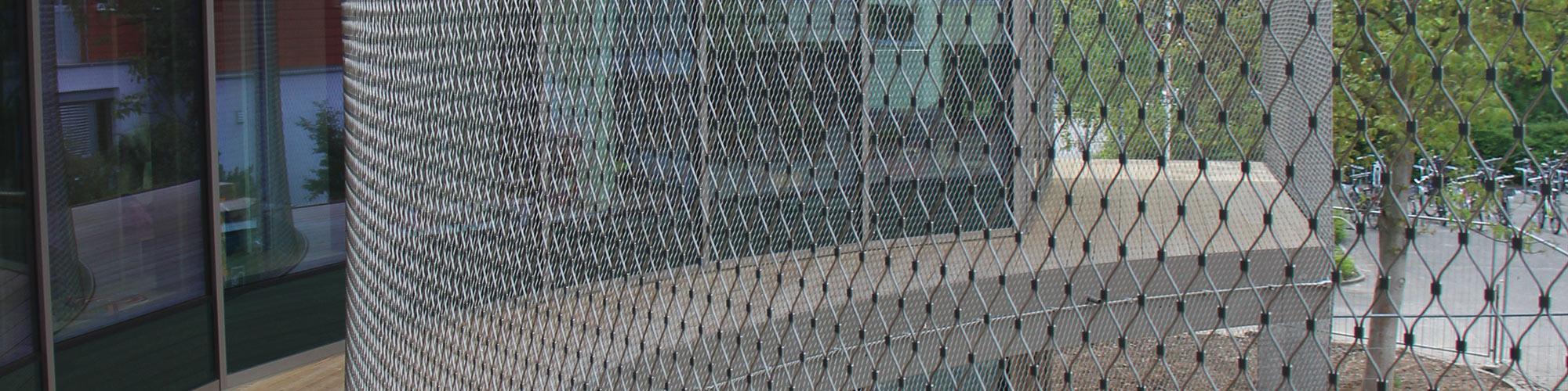 Fassadensicherung Edelstahl-Seilnetz X-TEND