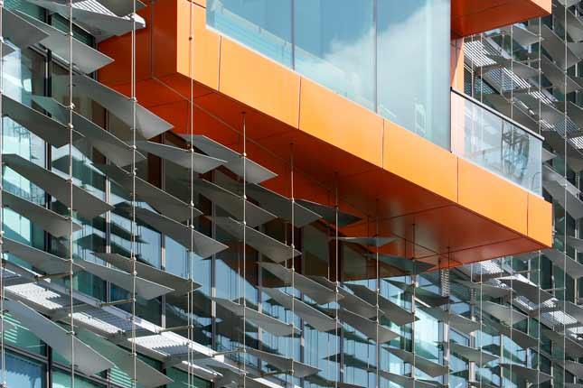 Fassadengestaltung Edelstahlseil-System I-SYS
