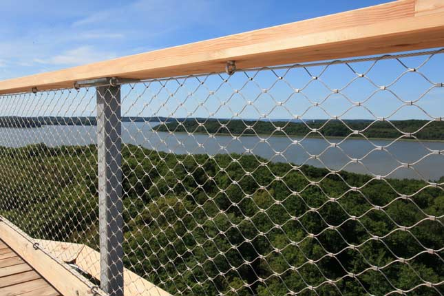 balustrade railings X-TEND stainless steel cable mesh