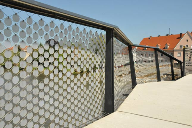 Design of railings sequins X-TEND stainless steel cable mesh