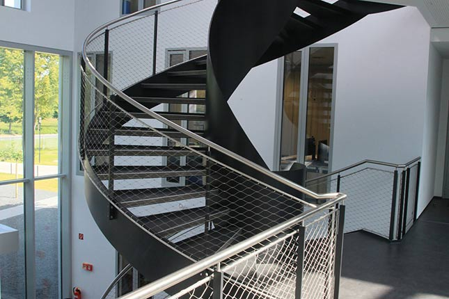 staircase railings X-TEND stainless steel cable mesh