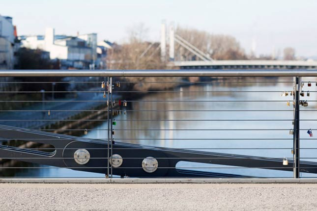 bridge railings balustrade infills I-SYS stainless steel wire rope system